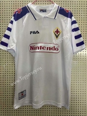 Retro Version 1998 Fiorentina Away White Thailand Soccer Jersey AAA-811