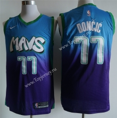 Dallas Mavericks Blue&Purple #77 NBA Jersey