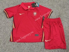 2020 European Cup Portugal Home Red Kids/Youth Soccer Uniform