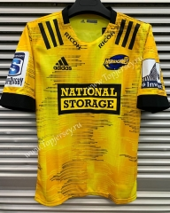 2020 Hurricane Home Yellow Thailand Rugby Shirt