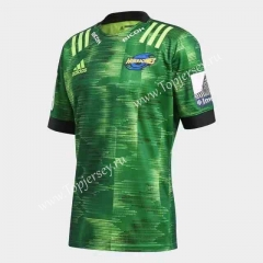 2020 Hurricane Green Training Thailand Rugby Jersey