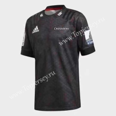 2020 Crusader Black Training Thailand Rugby Jersey