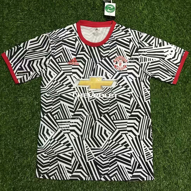 2020 2021 Manchester United Black White Thailand Soccer Training Jersey Aaa 407 Manchester United