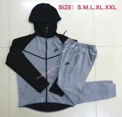 2020-2021 Gray Thailand Soccer Jacket Uniform With Hat-815