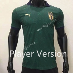 Player Version 2020 European Cup Italy 2nd Away Green Thailand Soccer Jersey AAA