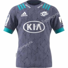 2020 Hurricane Away Gray Thailand Rugby Shirt
