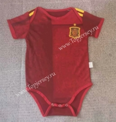 2020 European Cup Spain Home Red Baby Soccer Uniform