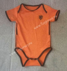 2020 European Cup Netherlands Home Orange Baby Soccer Uniform