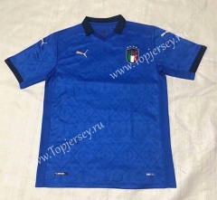 2020 European Cup Italy Home Blue Thailand Soccer Jersey AAA