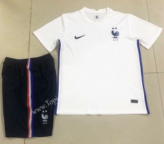 2020 European Cup France Away White Soccer Uniform