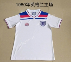 Retro Version 1980 England Home White Thailand Soccer Jersey AAA