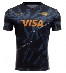 2020 Panthers Away Blue&Black Thailand Rugby Jersey