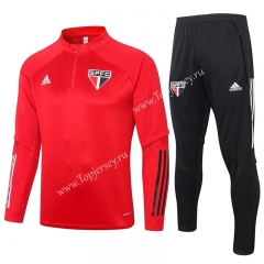 2020-2021 Sao Paulo Futebol Clube Red Thailand Soccer Tracksuit-815