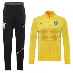 2020 Brazil Yellow Thailand Training Soccer Jacket Uniform-LH