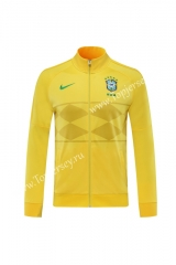 2020 Brazil Yellow Thailand Training Soccer Jacket -LH