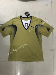 Retro Version 2006 Italy Goalkeeper Gold Thailand Soccer Jersey AAA-SL