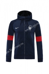 2020-2021 France Royal Blue Thailand Soccer Jacket With Hat-LH