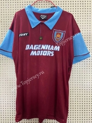 100 Commemorative Edition West Ham United Dark Red Thailand Soccer Jersey AAA-811