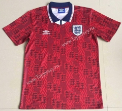 Retro Version 1994 England Away Red Thailand Soccer Jersey AAA-AY