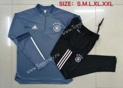 2020-2021 Germany Light Gray Thailand Soccer Tracksuit-815