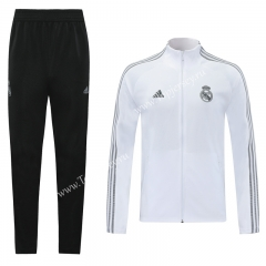 2020-2021 Real Madrid White (Ribbon) Thailand Soccer Jacket Uniform-LH