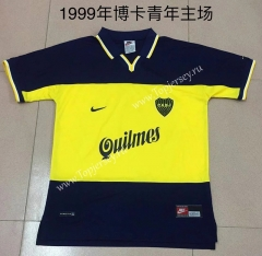 Retro Version 1999 Boca Juniors Home Blue Thailand Soccer Jersey AAA