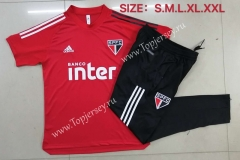 2020-2021 Sao Paulo Futebol Clube Red Short Sleeve Thailand Soccer Tracksuit-815