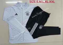 2020-2021 Germany Light Gray Thailand Soccer Jacket Unifrom-815