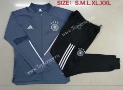 2020-2021 Germany Dark Gray Thailand Soccer Jacket Unifrom-815