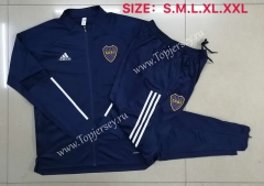 2020-2021 Boca Juniors Royal Blue Thailand Soccer Jacket Uniform-815