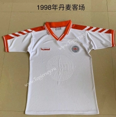 Retro Version 1998 Denmark Away White Thailand Soccer Jersey AAA