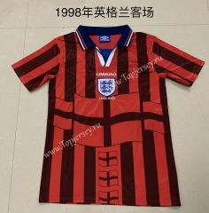 Retro Version 1998 England Away Red&Black Thailand Soccer Jersey AAA