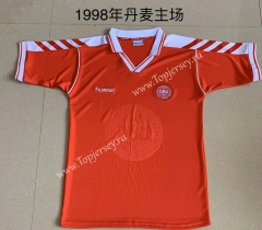 Retro Version 1998 Denmark Home Red Thailand Soccer Jersey AAA
