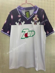 Retro Version 1992-1993 Fiorentina Away White Thailand Soccer Jersey AAA