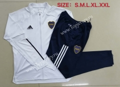 2020-2021 Boca Juniors White Thailand Soccer Jacket Uniform-815