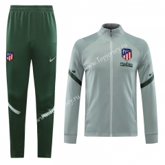 2020-2021 Atletico Madrid Light Green Thailand Training Soccer Jacket Uniform-LH