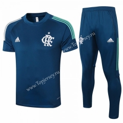 2020-2021 Flamengo Royal Blue Short-sleeved Thailand Soccer Tracksuit-815