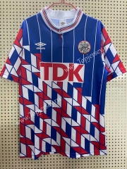 Retro Version 1990 Ajax Away Blue&Red&White Thailand Soccer Jersey AAA-811