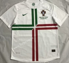 Retro Version 2012 Portugal Away White Thailand Soccer Jersey AAA-510
