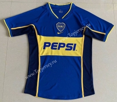 Retro Version 2002 Boca Juniors Blue Thailand Soccer Jersey AAA-DG