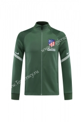 2020-2021 Atletico Madrid Green Thailand Training Soccer Jacket -LH