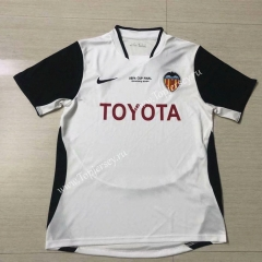 Retro Version 2003-2004 Valencia Home White Thailand Soccer Jersey AAA-503