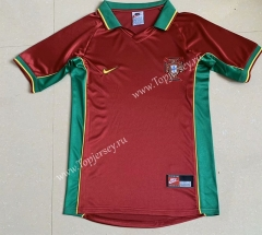 Retro Version 1998 Portugal Home Red Thailand Soccer Jersey AAA-709