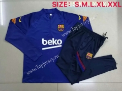 2020-2021 Barcelona Camouflage Blue Thailand Soccer Tracksuit-815