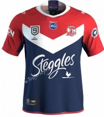 2020 Australia Roosters Royal Blue&Red Thailand Rugby Shirt