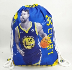 Golden State Warriors Blue Basketball Drawstring Bag-30