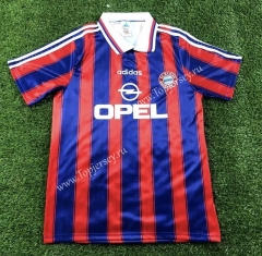 Retro Version 1995-1997 Bayern München Home Red&Blue Thailand Soccer Jersey AAA-503