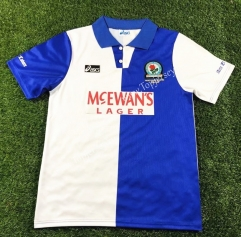 Retro Version 1994-1995 Blackburn Rovers Blue&White Thailand Soccer Jersey AAA-503