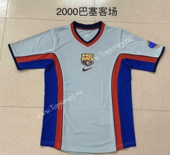 Retro Version 2000 Barcelona Away Gray Thailand Soccer Jersey AAA-AY