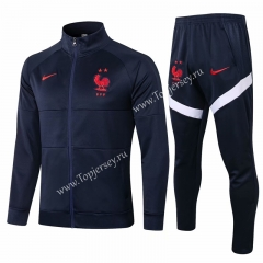2020-2021 France Royal Blue Thailand Soccer Jacket Uniform-815